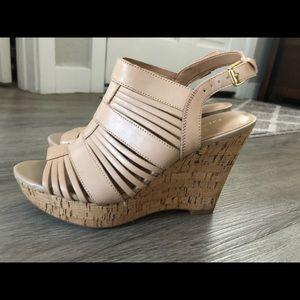 Franco Sarto Cork Wedge Sandals, Size 7